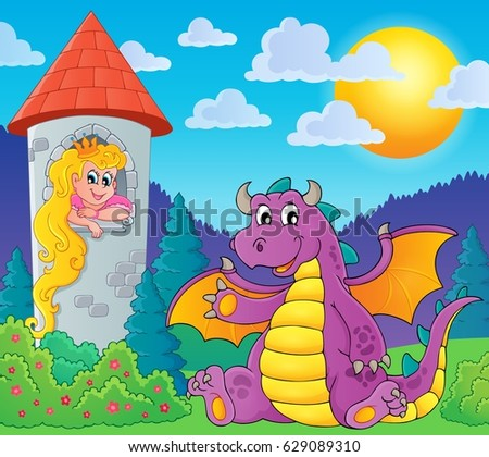 Stock Photo Fairy tale theme image 6 - eps10 vector illustration.