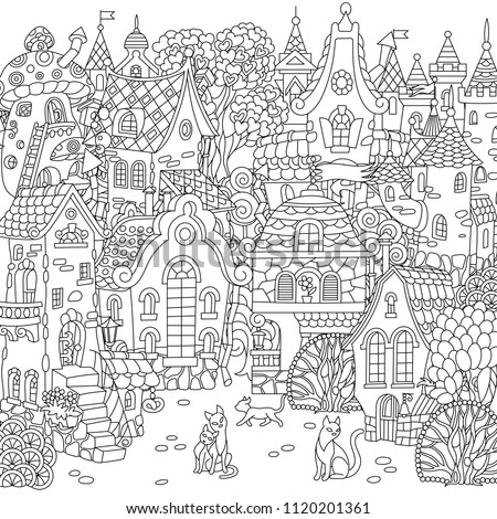 fairy tale town city landscape