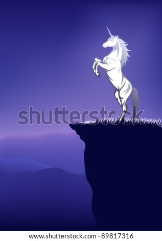 fairy tale unicorn on the top