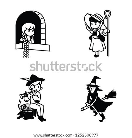 fairy tale vector icons