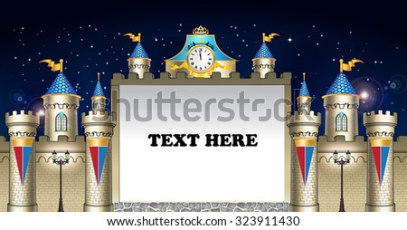 fairy tales castle with stars