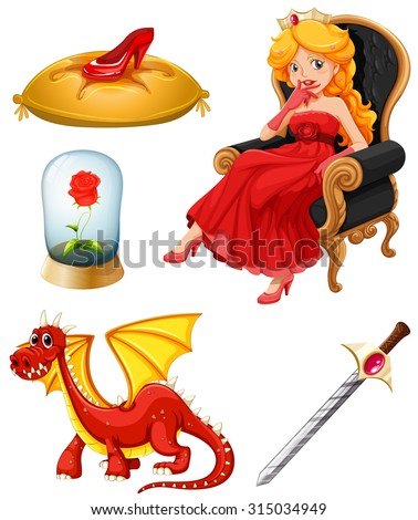 fairy tales characters in red