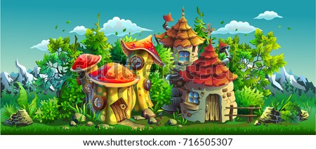 fairy tales village with small