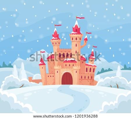 fairy tales winter castle