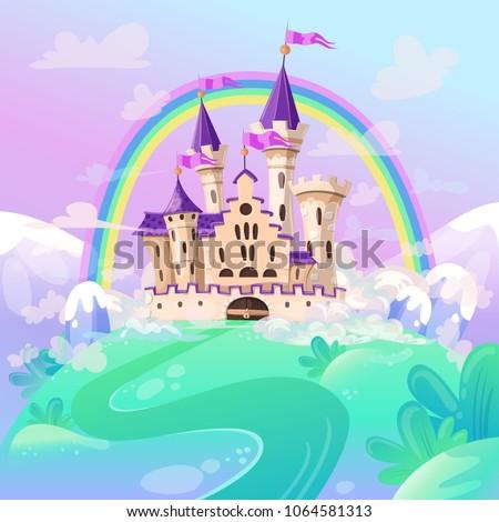 fairytale cartoon castle cute