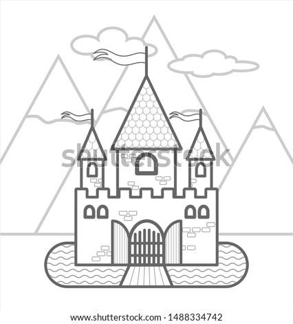 fairytale castle against the