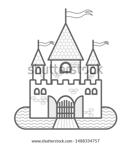 fairytale castle with three