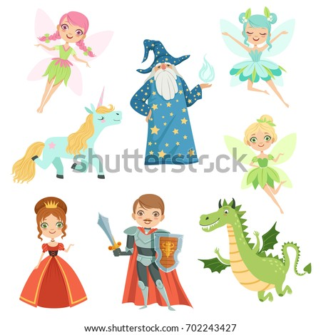 fairytale characters set in
