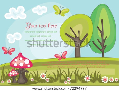 fairytale landscape. vector illustration