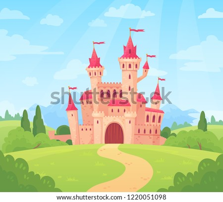 fairytale landscape with castle