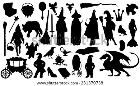 fairytale silhouettes on the