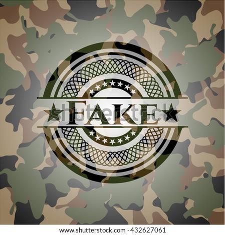 Fake camo emblem