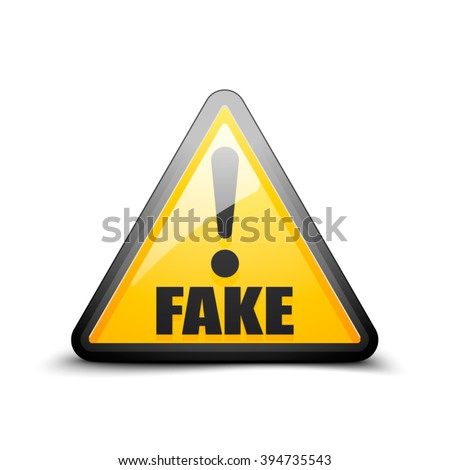 fake exclamation hazard sign