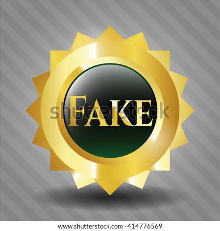 Fake gold emblem