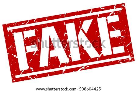 fake. grunge vintage fake square stamp. fake stamp.