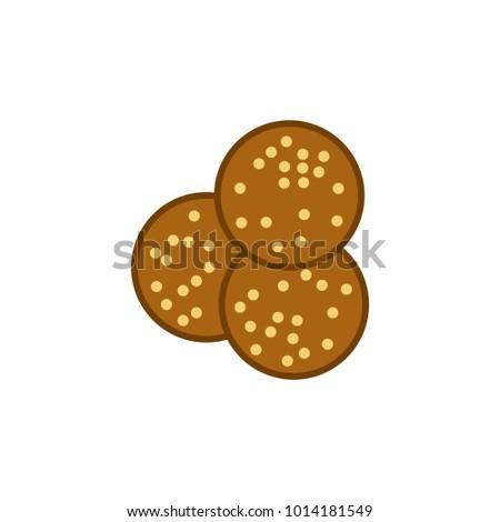 falafel icon, vector illustration