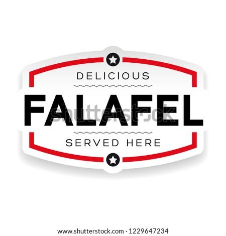 Falafel vintage sign label