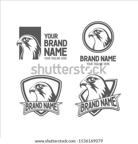 falcon head logo collection