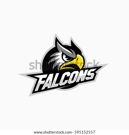 falcon mascot for a sport team