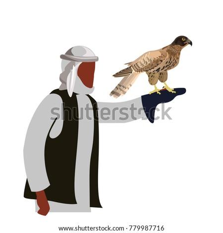 falconer with his falcon