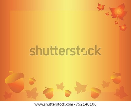 fall autumn border background