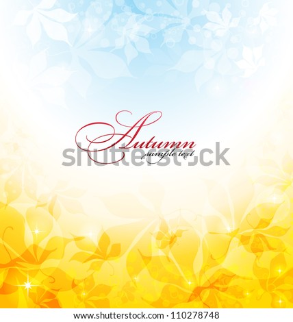 fall background with yellow