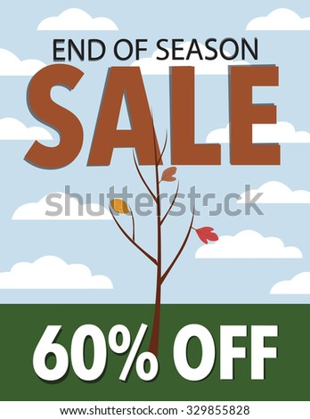 fall end of season sale with