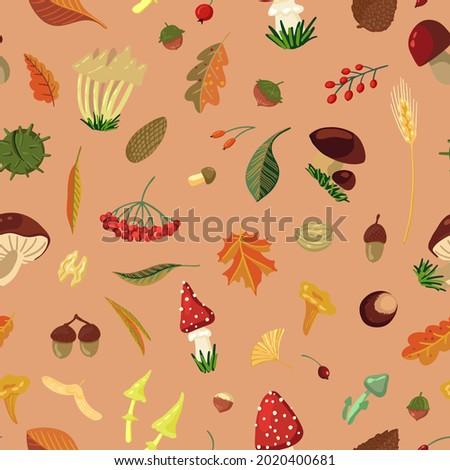 fall harvest vector seamless