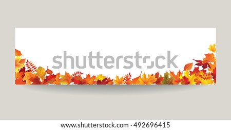 fall leaf nature banner autumn