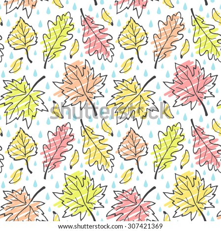 fall seamless vector pattern