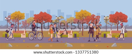 fall season park zone with