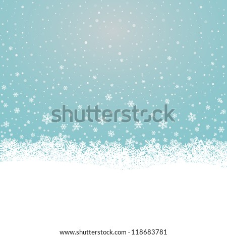 fall snowflake snow stars blue
