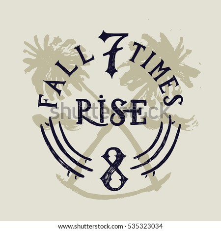 fall 7 times and rise 8