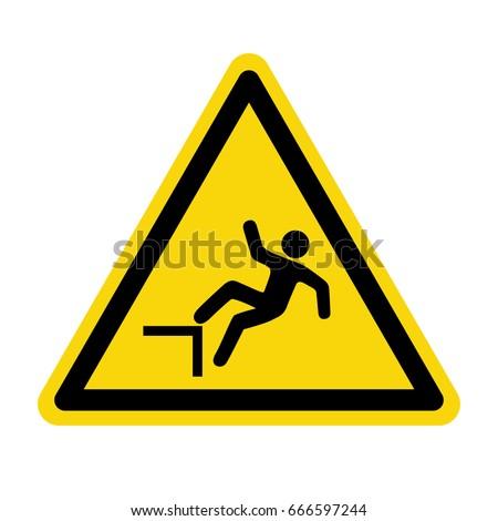 fall warning sign symbol