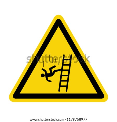 Fall warning sign. symbol, vector, illustration