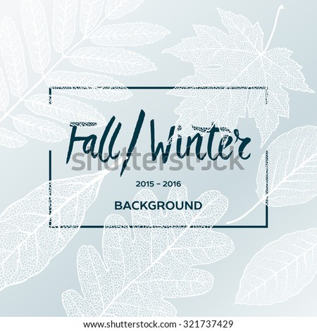 fall winter sale poster with