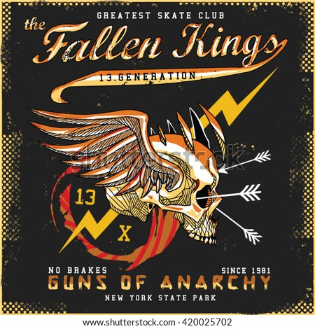 fallen kings tee graphic
