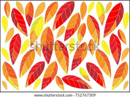 fallen leaves pattern design