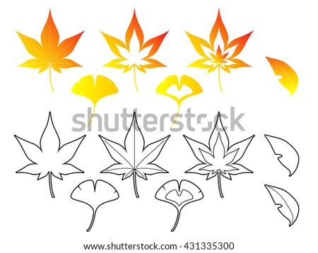 fallen leaves set