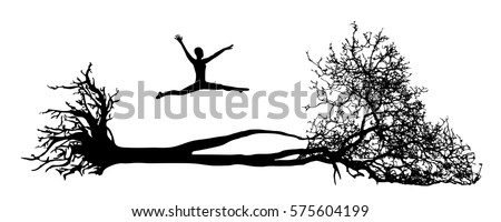 fallen tree with root figure