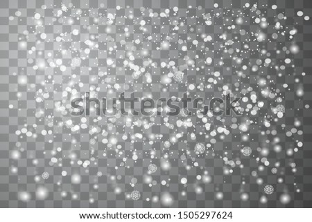 Falling Christmas Shining transparent beautiful, little snow isolated on transparent background. White snowflakes flying in the air. Snow flakes, snow background.