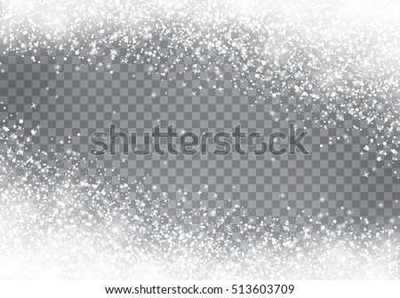 falling christmas snow