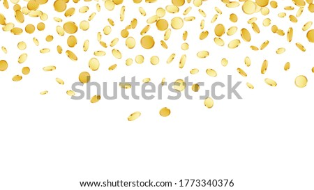 falling coins background