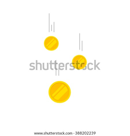 falling coins money vector