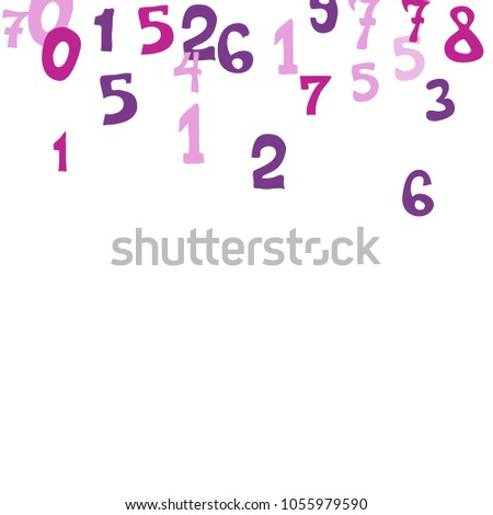 falling colorful numbers on