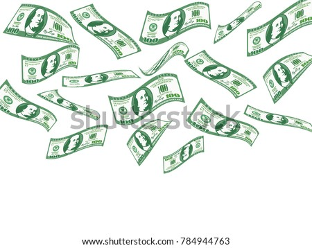 falling 100 dollar bills