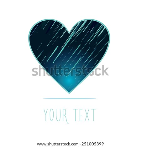 Falling in love. Star rain in the   heart-shaped