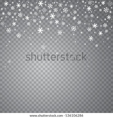 falling light snow isolated on