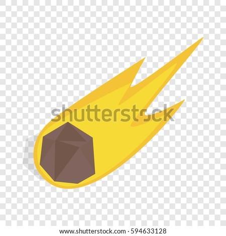 falling meteor icon isometric