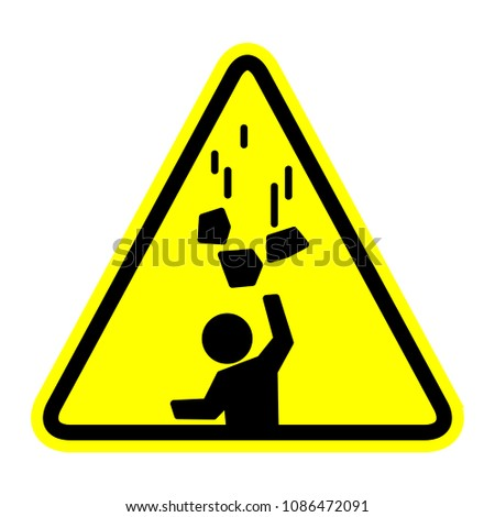Falling objects icon, vector illustration